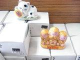 せともの置物(三猿、眠り猫)